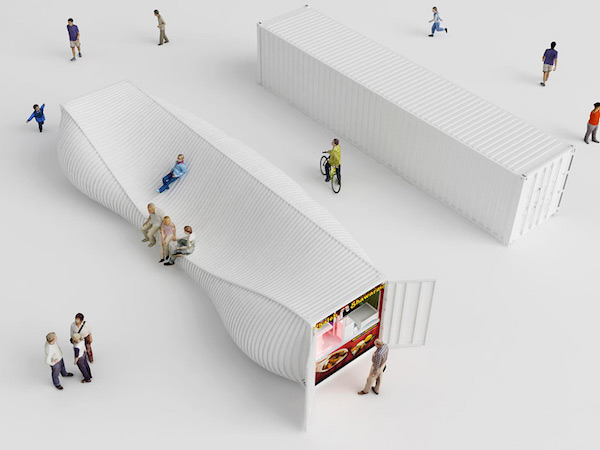 两个集装箱的艺术之旅
