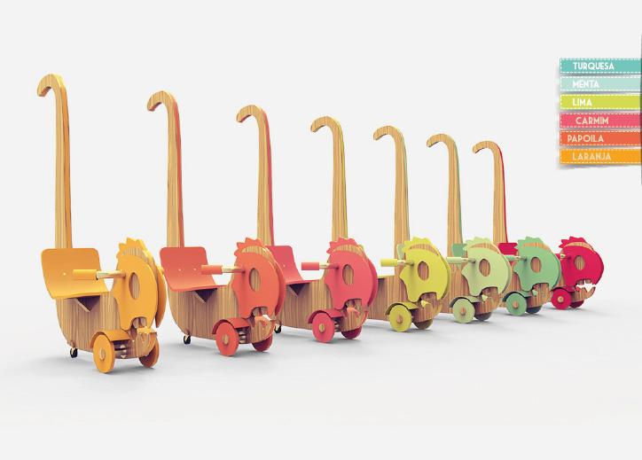 Monsi木制儿童推车