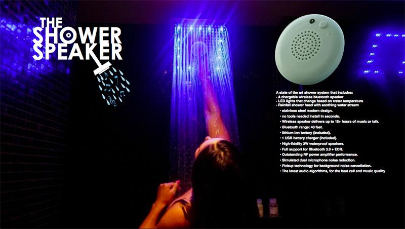 浴室花洒音箱Shower Speaker