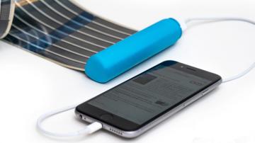 全球首款卷轴式太阳能充电宝 HeLi-on