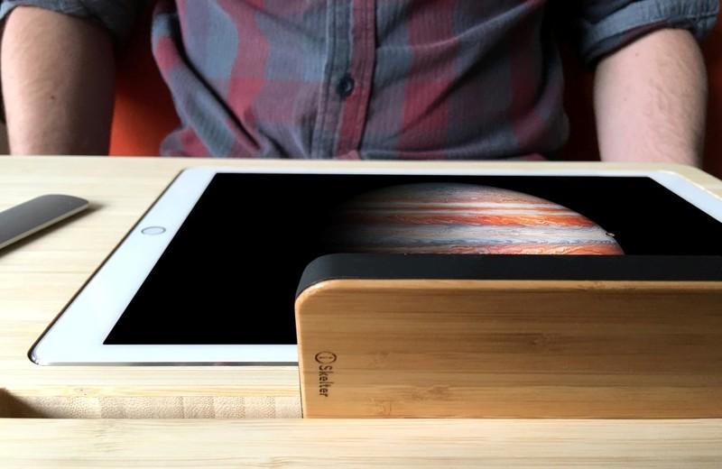 Canvas便携智能桌板,能够在任何一个平面甚至在你的膝盖上办公