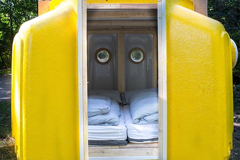 16个浴缸组成的弹出式卧室