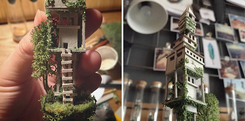 迷你雕塑 试管大小的帝国大厦