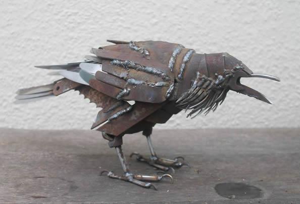 废弃金属打造动物世界