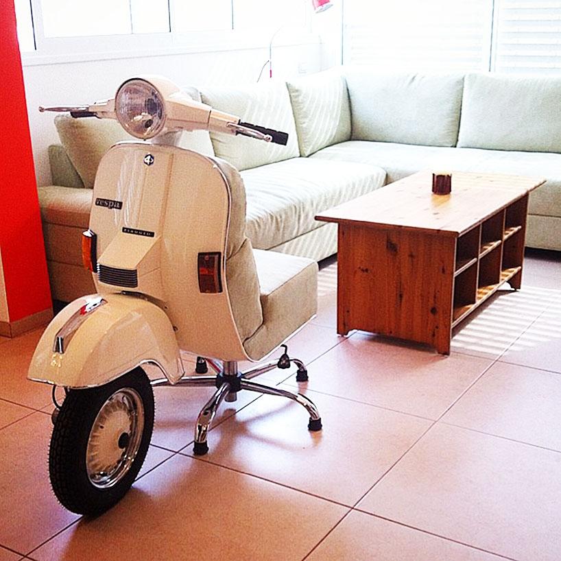 vespa踏板摩托巧变家具 展现别样意式风情