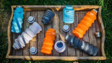 喝多喝少一罐就搞定,伸缩自如便携式水杯Que Bottle