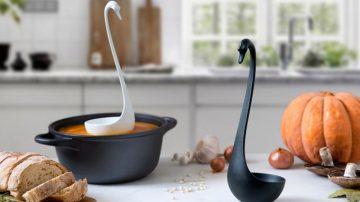 Swanky让舀汤像天鹅一样优雅,沉没的汤勺不再上演!