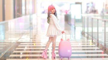 有史以来最可爱梦幻的行李箱Fravel?拥有透明拉杆+会动猫耳的