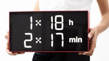 创意时钟albert clock 经计算才能读出时间