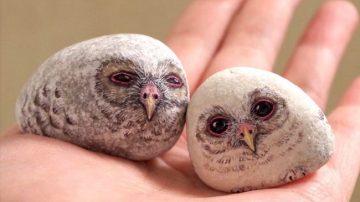 画出动物的蜷曲姿态,艺术家展现石头的柔顺美感