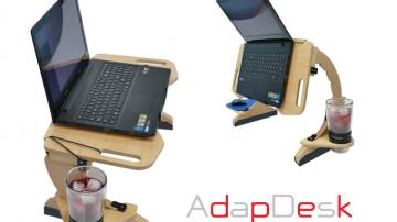 坐着站着躺着都可以使用的笔记本电脑支架