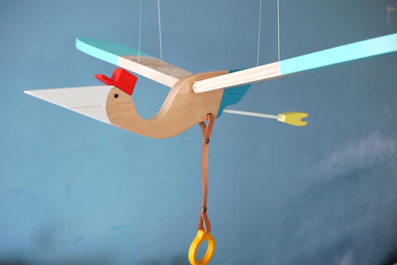 eguchitoys送子鸟木制互动玩具让苦闷心情都飞走