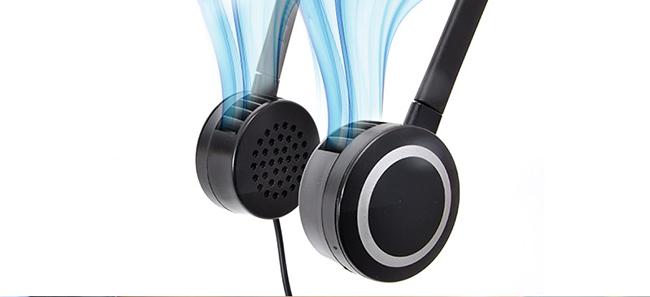 伪装成耳机的耳挂式风扇