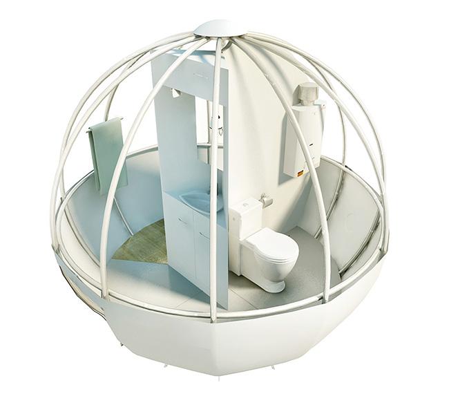 如白茧的球型树屋,带你体验假日悠闲时光