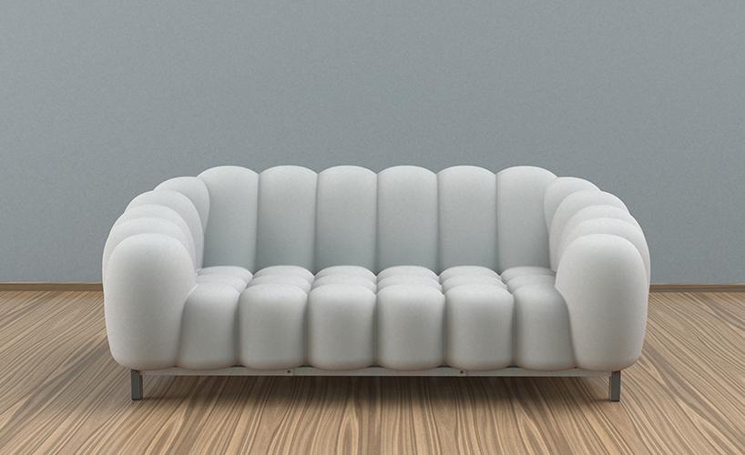 专为快速变化的生活节奏打造的充气沙发naja