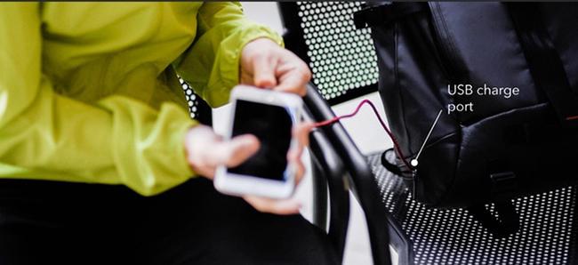 防盗、摄影、无线充电为一体的Mexxenger智能邮差背包