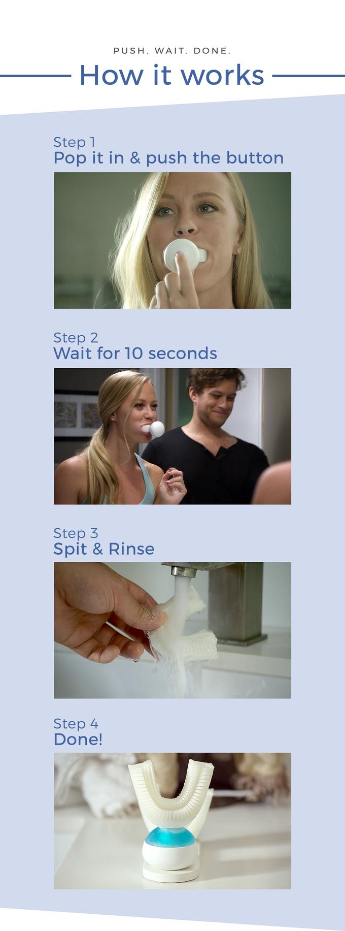 不是懒惰、是效率!Amabrush让你10秒钟搞定刷牙事
