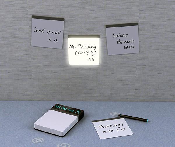 带有定时提醒功能的电子便笺