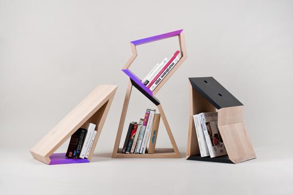 角型可拆分式书架