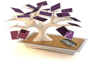 Electree树形太阳能USB充电器