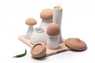 厨房里用的蘑菇造型容器--Albe