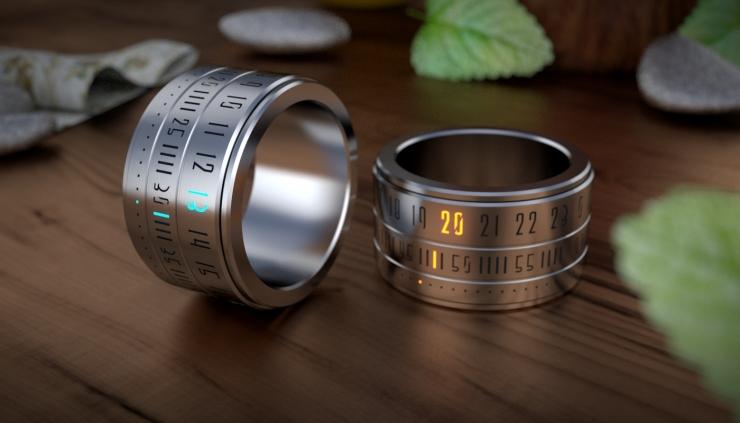 Ring Clock 时间戒指,用戒指看时间