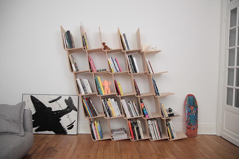 创意书架L shelf,可大可小的模块化组装书架
