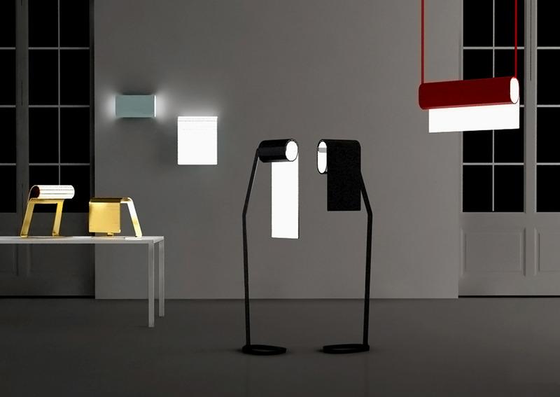 Recto-Verso可以折叠翻转使用的创意灯具