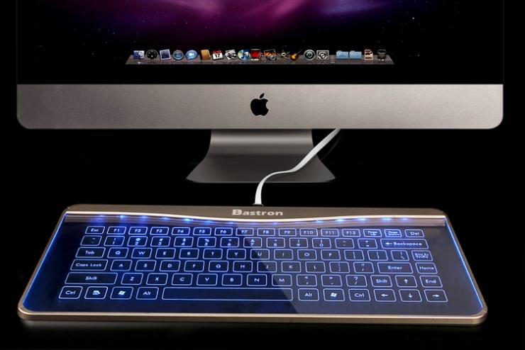 Bastron 非常炫酷的玻璃材质键盘