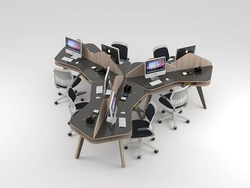 无限组合方式的嵌砖书桌与LVLV多用书架