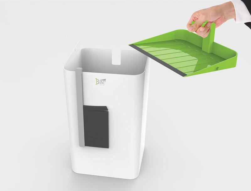 集扫帚和垃圾斗于一体3 in 1垃圾箱桶