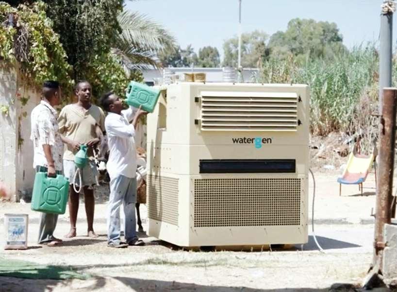 以色列water-gen公司从空气中获取纯净的饮用水