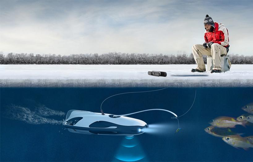 提供水下可视化钓鱼体验的无人机PowerRay亮相2017 CES