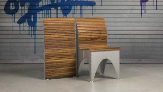 一物两用折叠椅Ollie:打开是护腰木椅,收纳是壁挂装饰
