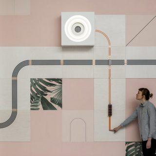 Conduct导电墙纸,通过导电油墨将电路系统嵌入在墙纸内