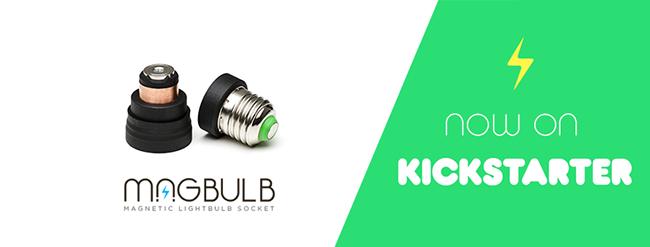 全球首款磁铁灯座Magbulb 吸上去立刻发光,换灯泡不再晕头转向!