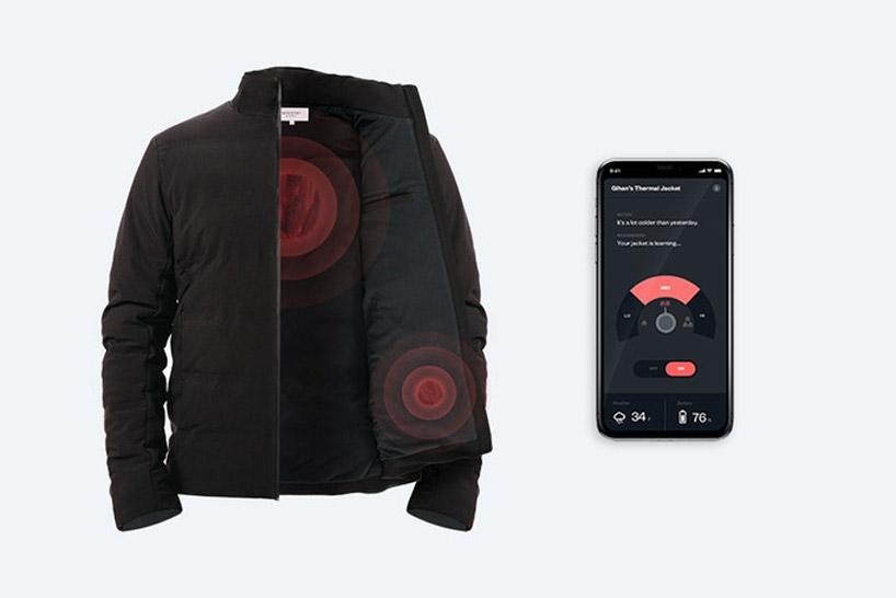 Mercury自热夹克为穿着者创造个性化的小气候