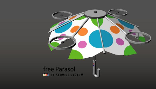 从此撑伞不用手,就让飞行雨伞来代劳-Free Parasol