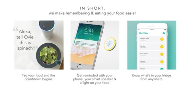 Ovie Smarterware 食物鲜度助理,让你再也不必站在冰箱面前翻箱倒柜
