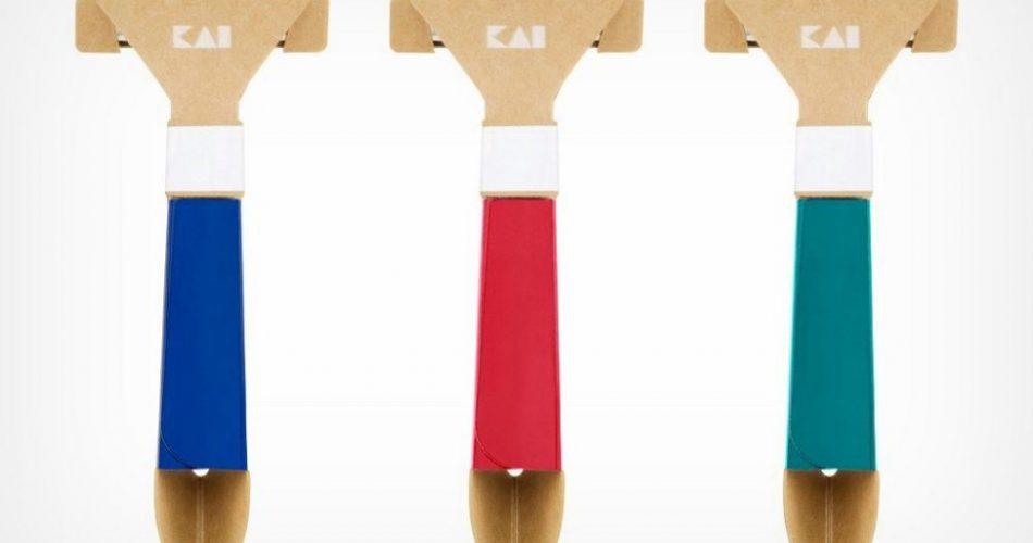"""全球第一支""""纸刮胡刀""""!日本百年品牌KAI贝印推塑料用量减少98%环保用具"""